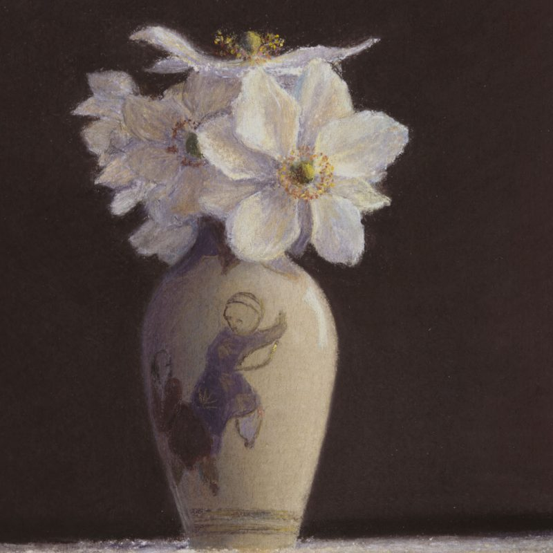 Anemones In Japanese Vase