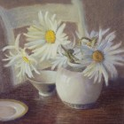 Daisies In A White Bowl